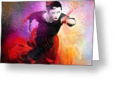 Flamencoscape 03 Greeting Card