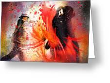 Flamencoscape 07 Greeting Card
