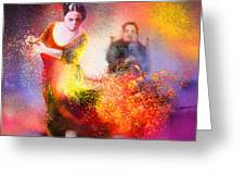 Flamencoscape 11 Greeting Card