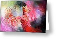 Flamencoscape 13 Greeting Card
