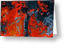 Flames And Grey Greeting Card