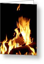 Flames In The Dark Greeting Card