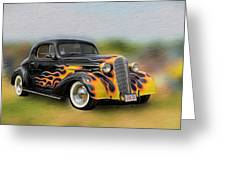 Flames On Wheels Greeting Card
