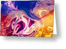 Flaming Colors Greeting Card