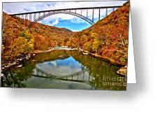 Flaming Fall Foliage At New River Gorge Greeting Card