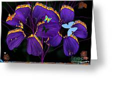 Flaming Flowers Greeting Card by Bobby Hammerstone