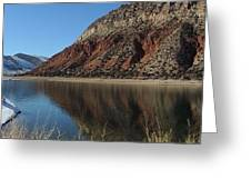 Flaming Gorge Winter Greeting Card