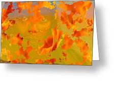 Flaming Indian Girl Sunset Greeting Card