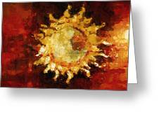 Flaming Out Greeting Card