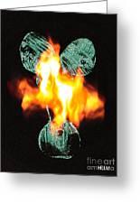 Flaming Personality Greeting Card