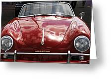 Flaming Red Porsche Greeting Card
