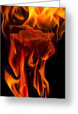 Flaming Rose Greeting Card