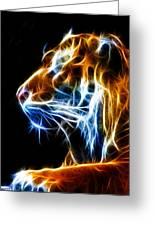Flaming Tiger Greeting Card