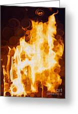 Flaming Waters Greeting Card
