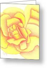 Flaming Yellow Rose Greeting Card