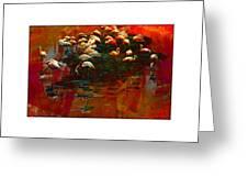 Flamingo Colours Greeting Card