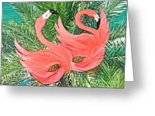 Flamingo Mask 1 Greeting Card