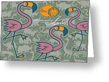Flamingos Love Greeting Card