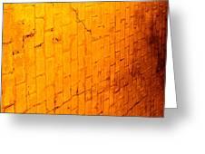 Flamming Brick Wall Greeting Card