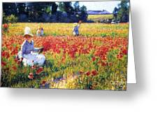 Flanders Fields Where Soldiers Sleep And Poppies Grow Greeting Card