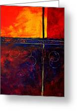 Flash Abstract Painting Greeting Card