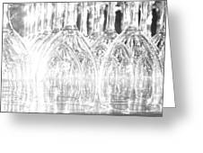 Flash Of Light On Glass Greeting Card