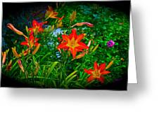 Flashes Of Garden Fire Greeting Card