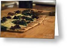 Flat Bread Pizza Greeting Card