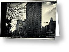 Flat Iron Building Fifth Avenue And Broadway Greeting Card