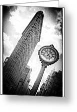Flat Iron Greeting Card by Peter Aitchison