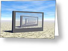 Flat Screen Desert Scene Greeting Card