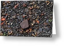 Flat Skipping Stones Greeting Card