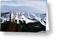Flat Top Mountain Greeting Card