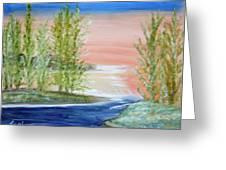 Flathead Lake Sunset Greeting Card