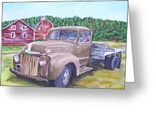 Flathead Monster Truck Greeting Card
