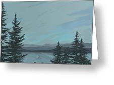 Flathead Sailboat Greeting Card