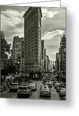 Flatiron Building - Black And White Greeting Card