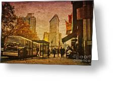 Flatiron Building New York Greeting Card