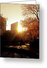 Flatiron Building Sunset - Madison Square Park Greeting Card