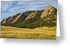 Flatiron Morning Light Boulder Colorado Greeting Card