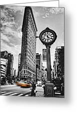 Flatiron Rush Greeting Card