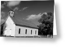 Flatt Rock Church Bw Greeting Card