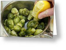 Flavoring Brussels Sprouts Greeting Card