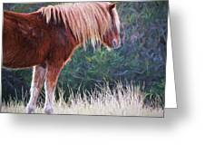 Flaxen Strands Greeting Card