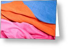 Fleece Material Greeting Card