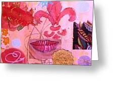 Fleur De Lips Greeting Card