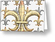 Fleur De Lys Silver And Gold Greeting Card