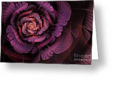Fleur Pourpre Greeting Card by John Edwards