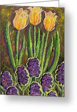 Fleurs D' Tulips And Hyacinths Greeting Card