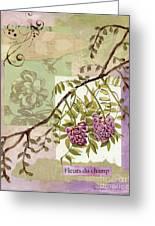 Fleurs Du Champ Greeting Card by Tamyra Crossley